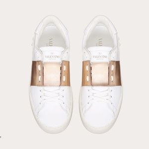 Valentino Open Sneaker in Rose Gold Size 38